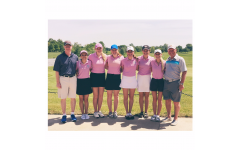 Girls' golf swings into action