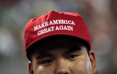 Trump campaigned with the slogan,