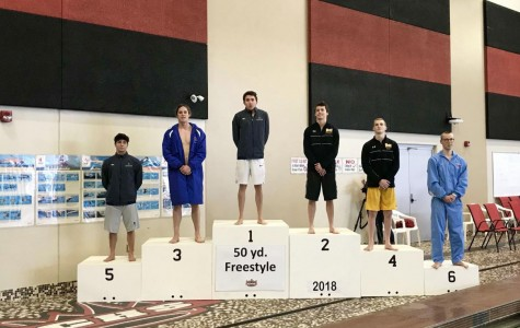 Boys' swimming dives into districts