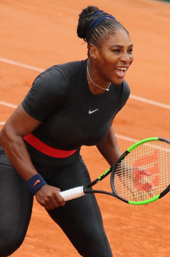 Serena+Williams+on+the+court+during+the+%0AFrench+Open+in+2018.