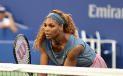 Serena Williams in a 2013 doubles match with Venus Williams.