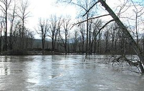 The Mississippi River flooding in Davenport