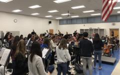 Orchestra rehearses as ensemble again