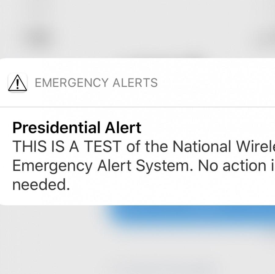 Presidential alert trial run