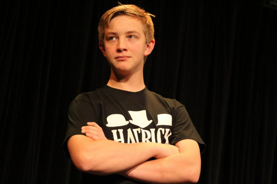 Brenner Stickney is performing at Improv night as a part of his improv team, Hatrick