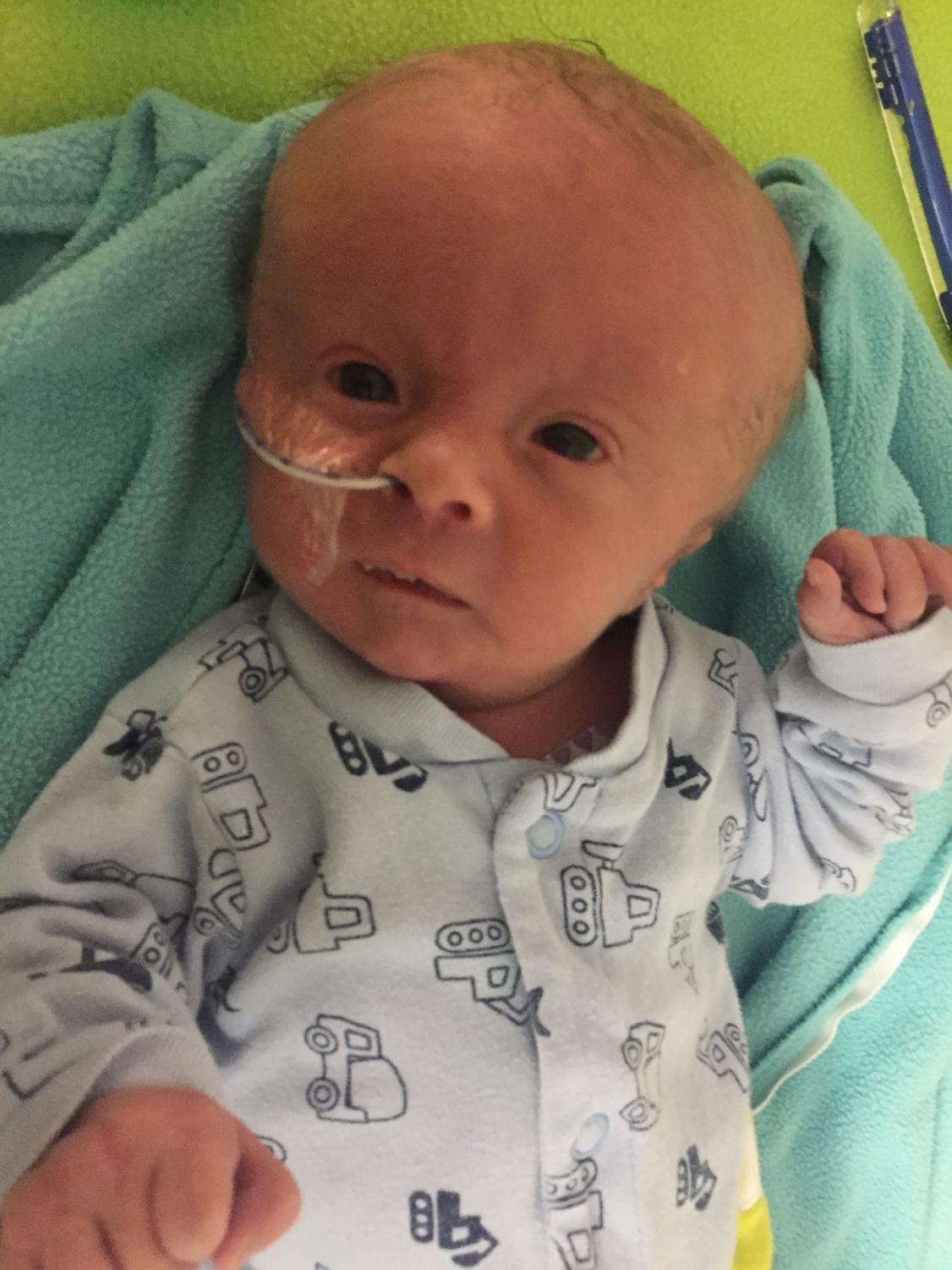 Andy and Mallorie Ward's newborn, Bennett, is photographed during his extended stay in Iowa City hospital's NICU.