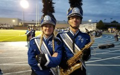 Gina Proseer in her marching band gear during the 2018 football season.