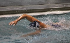 A Pleasant Valley swimmer swims.