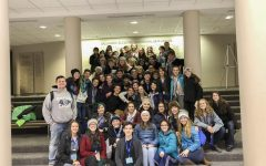 Pleasant Valley theater students at the Iowa Thespian Festival in November.