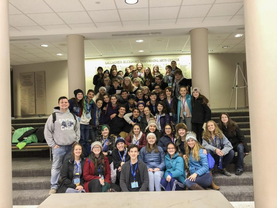 Pleasant+Valley+theater+students+at+the+Iowa+Thespian+Festival+in+November.