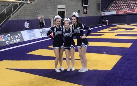 Spartan varsity cheerleaders spirit in the Dome