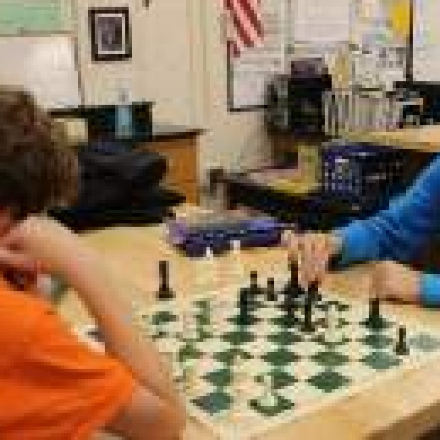 Students participated in the first PV chess tournament.