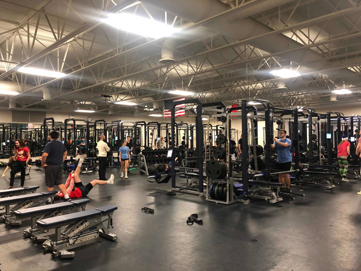 View of the weight room at Pleasant Valley where acceleration takes place