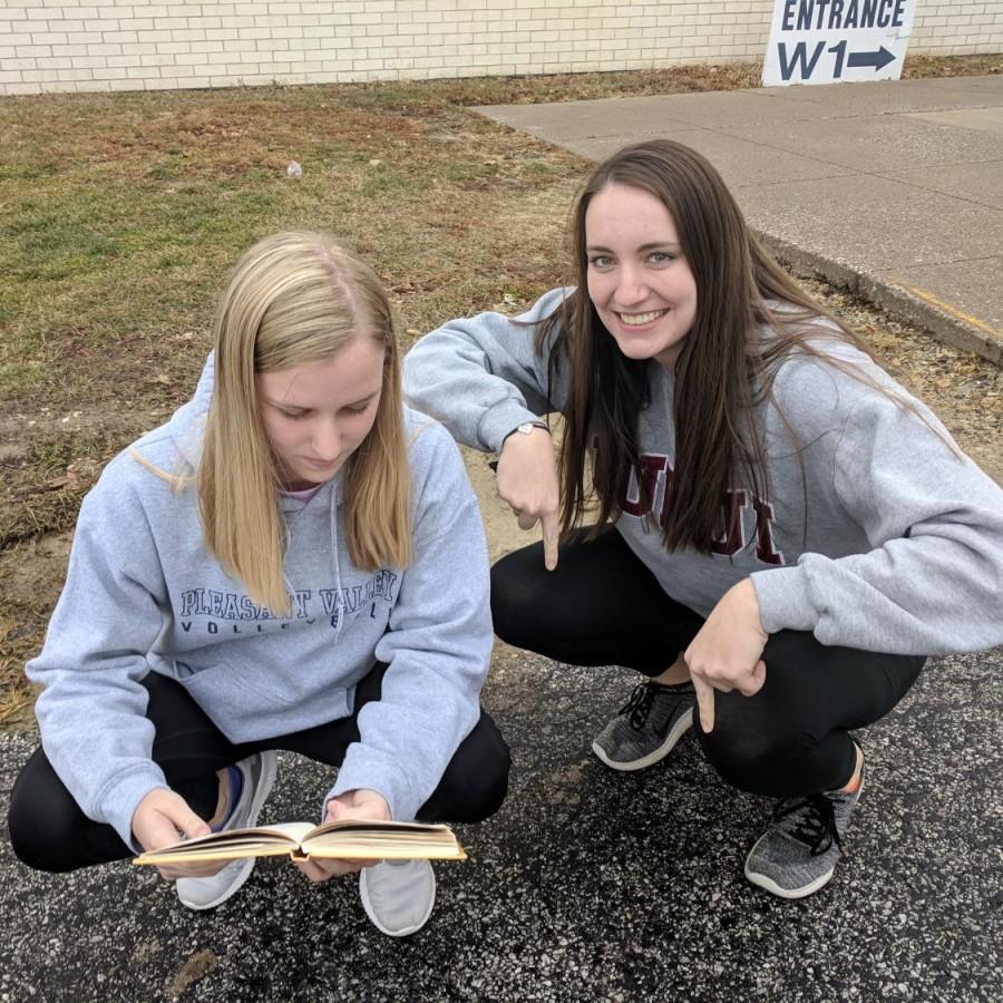 Addison Even pictured (left) and Elizabeth Peterson (right) compare book smarts and street smarts.