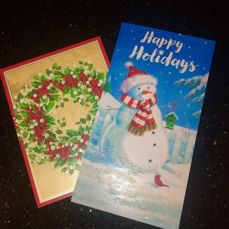 Christmas+cards+that+families+receive+during+the+holiday+season.%0A
