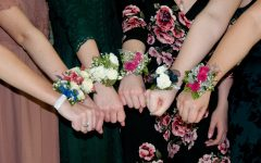 Students at PV display their corsages during a turnabout dance