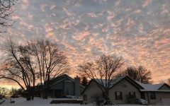Sunset captured on the recent Nov. 26 snow day.