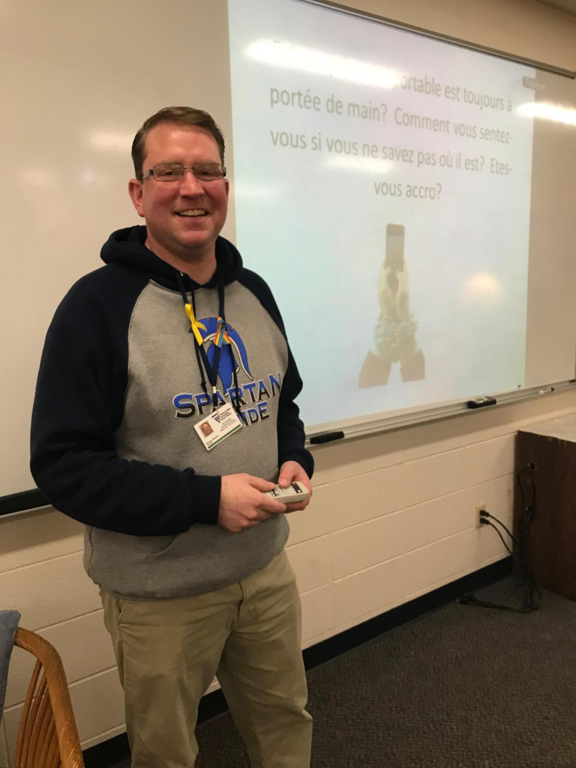 French teacher Mr. Meicke is back teaching this week after having a substitute last Friday