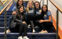 The Spartan Assembly executive team (from left) Senior Susan Anil, Senior Angela Pandit, Senior Lily Williams, Senior Natalie Murphy, and Junior Aabha Joshi pose together after a Student Council conference. Their hard work and dedication can be seen throughout the community all year round