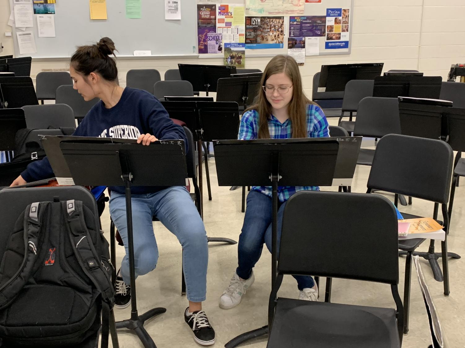 Here, PV students complete homework and participate in musical extracurriculars.