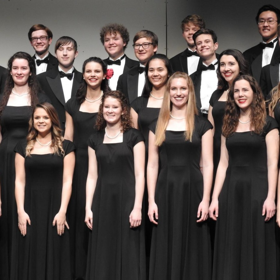 Some+members+of+the+2018-19+PV+Chamber+Choir%2C+standing+stationary+as+they+sing+at+a+concert.