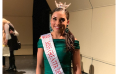 Junior Caitlin Crome after being named Miss Greater Des Moines Outstanding Teen 2019.