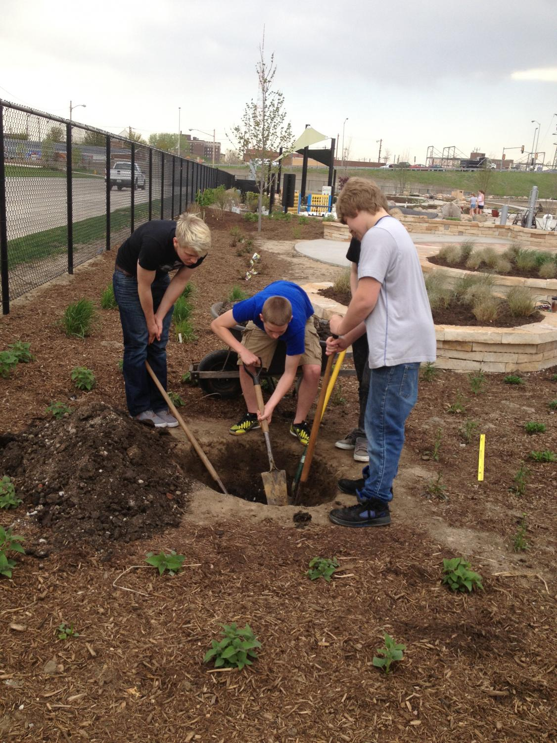 Many Pleasant Valley students choose to complete their service learning projects by volunteering in the gardens of the Quad City Botanical Center in Rock Island.