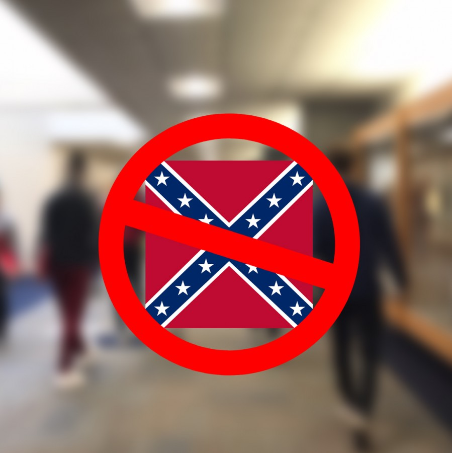 Several+Pleasant+Valley+students+recently+complained+to+administration+when+a+peer+wore+a+sweatshirt+with+the+Confederate+flag+to+school%2C+causing+administrators+to+better+define+student+rights.+