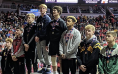Spartan wrestlers celebrate an exciting season
