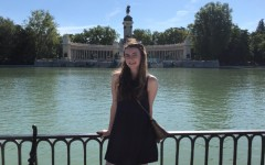 Abby Roth stands in front of the Monument to Alfonso XII in Retiro Park in Madrid.