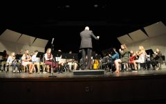 Wind Symphony plays during the Senior Concert on  March 25.