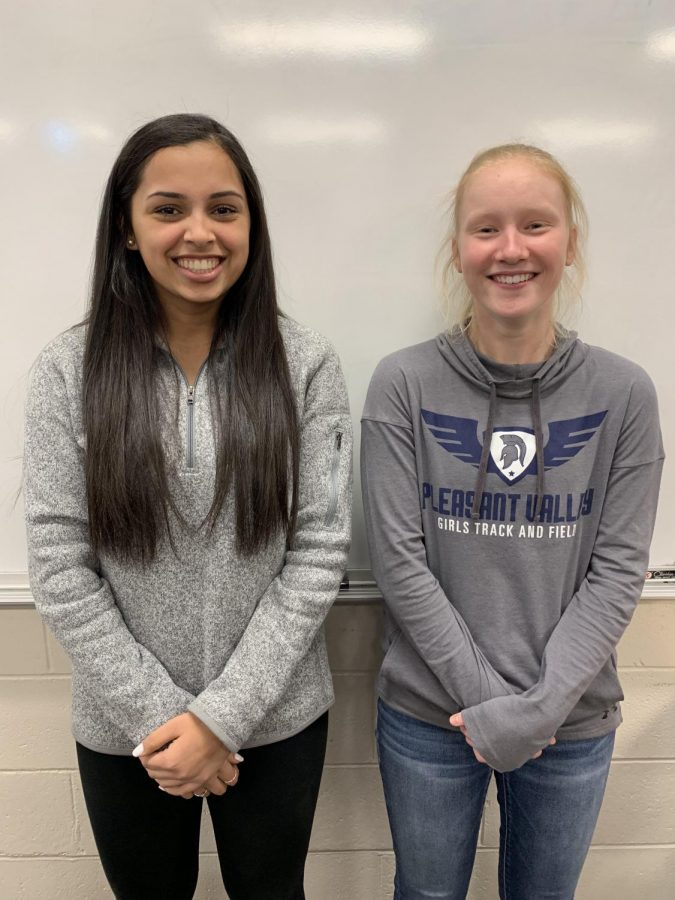 Shreya+Khurjekar+and+Mallory+Lafever+together+as+the+Pleasant+Valley%E2%80%99s+nominees+of+the+Iowa+Governor%E2%80%99s+Scholars.+