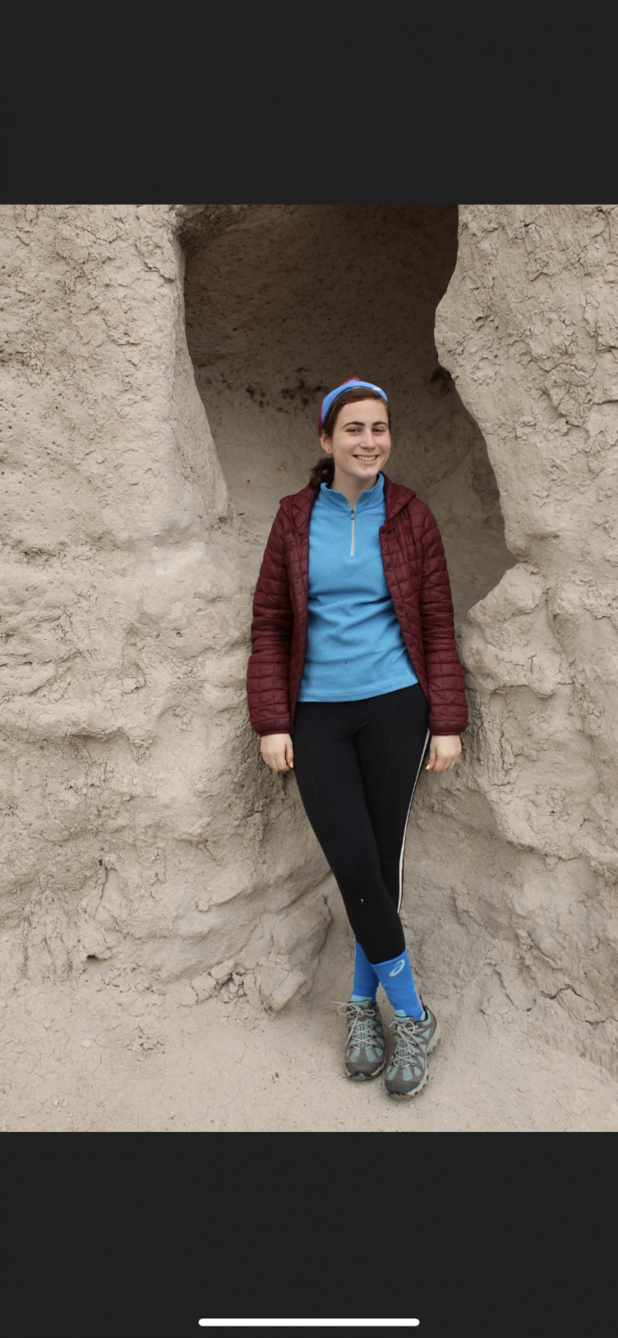 Senior Caroline Christophersen enjoys a hike in the place O'Keeffe called the white lands