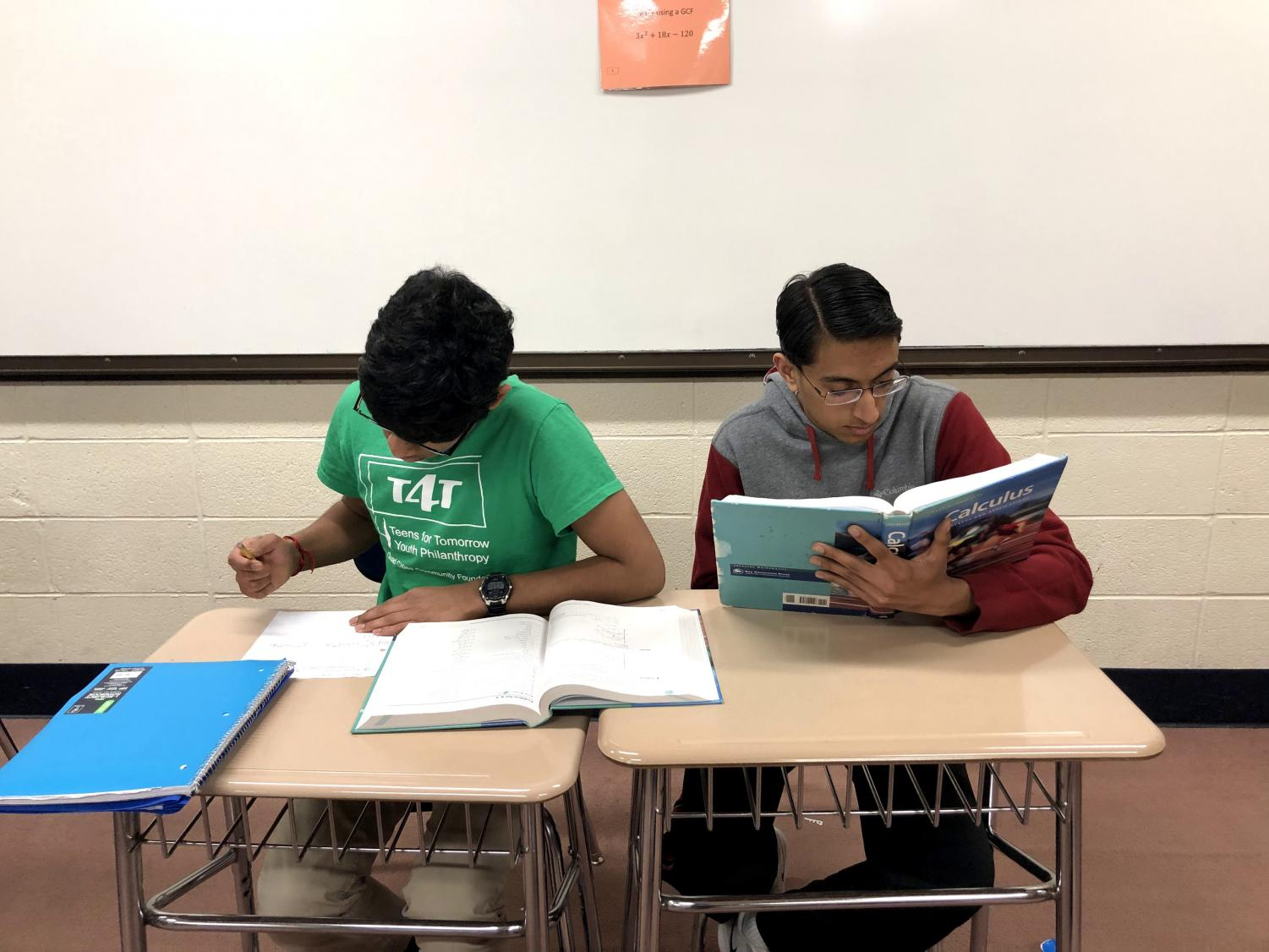 Sujay Marisetty (left) and Aditya Desai (right) are preparing for the next round of their competitions.