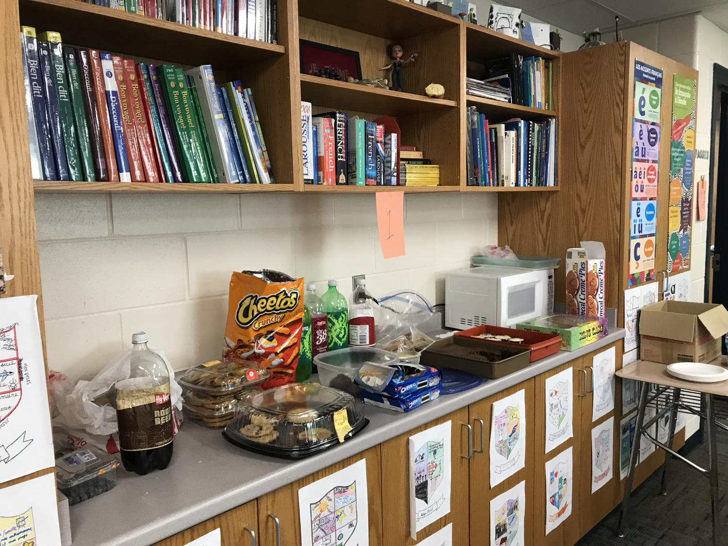 Melissa Lechtenberg's classroom is full of decorations and delicious treats for the celebration of Mardi Gras, on March 5.
