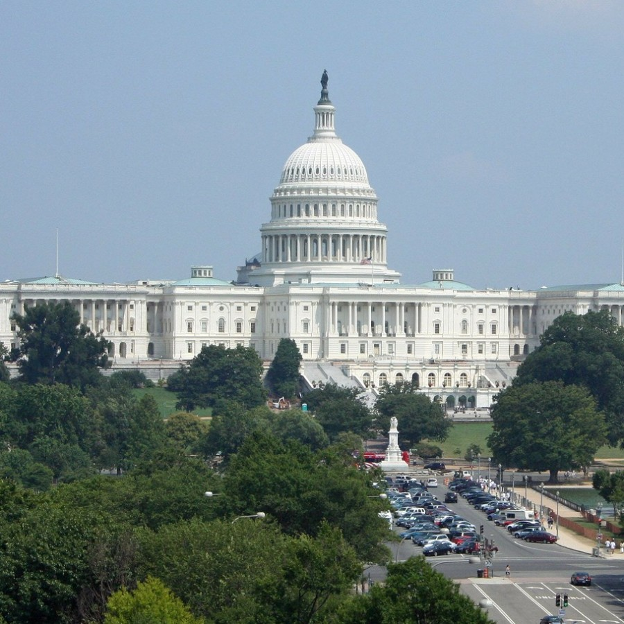 The+U.S+Capitol+building+where+the+two+houses+work+to+pass+legislation+regarding+federal+spending.++