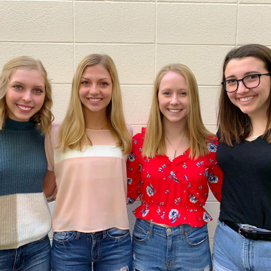 Four PV students were named IHSPA Scholars for their outstanding work in the field of journalism. Pictured [from left to right] are Haley Moore, Lily Williams, Maya McClain and Natalie Murphy.