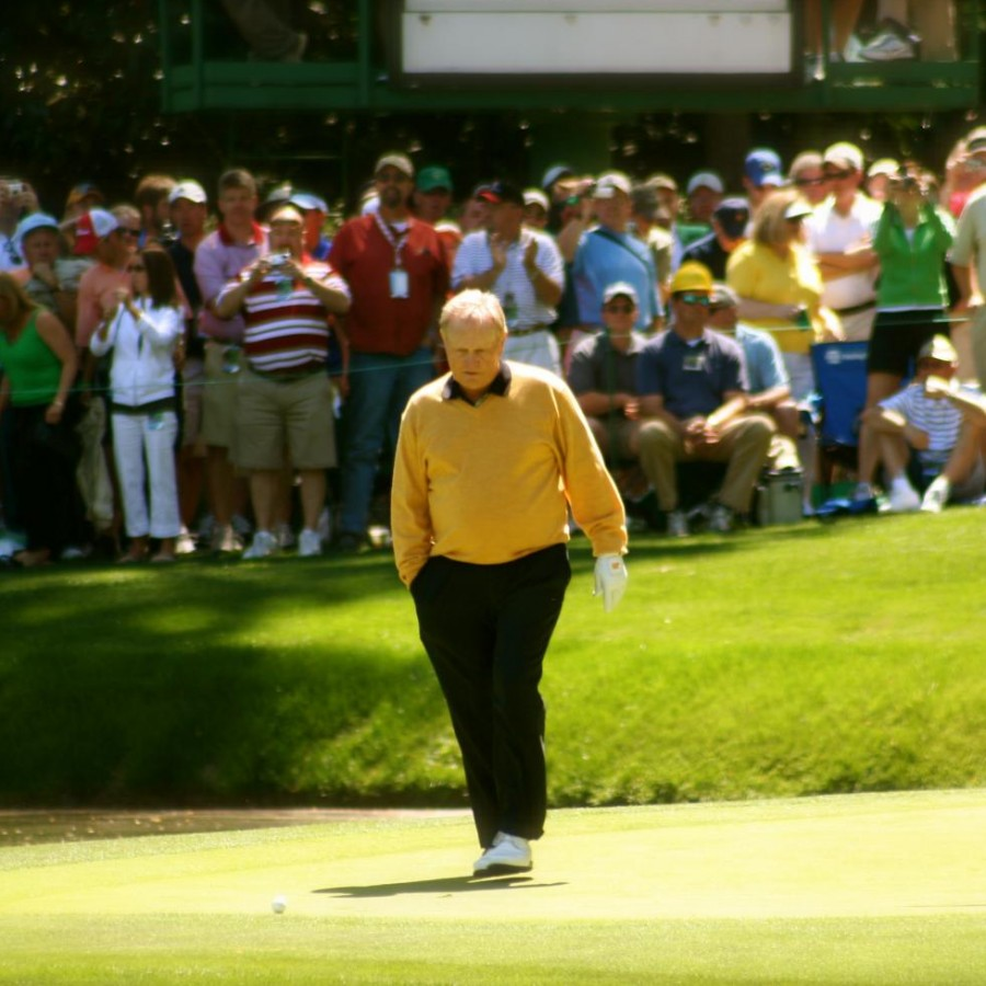 Jack+Nicklaus+one+of+the+greatest+golf+players+of+all+time+is+seen+at+the+Masters+in+2006
