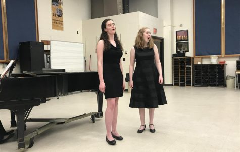 Madison Wells and Christine Lyon perform at the Outstanding Performance recital in Ames, Iowa. They are both seniors heavily involved in choir and will be hosting a senior recital together.