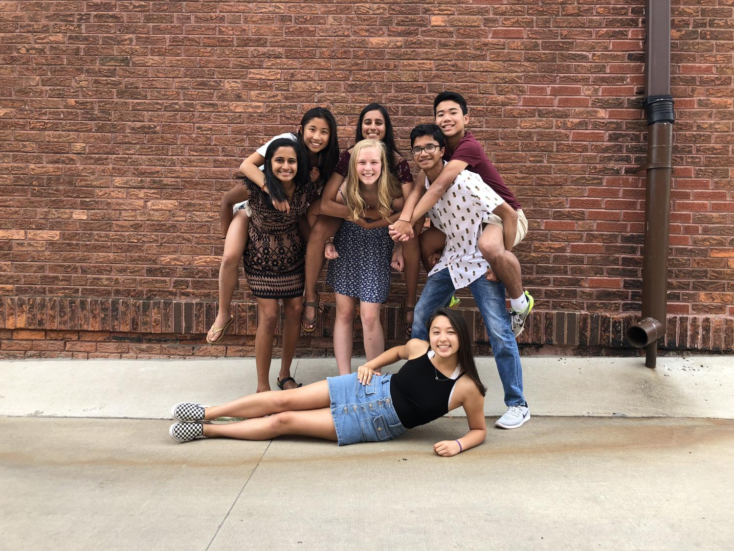 As heard in the 2nd episode of Voices of the Valley, junior Amulya Pillutla (left, middle row), attends the Secondary Training Program to research food sustainability at the University of Iowa.