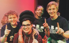 Pictured from left to right Matt Bolin, Robbie Williams, Antonyo Bagley and Brenner Stickney at the schools improv night.