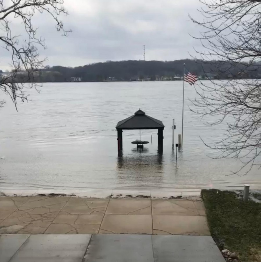Melting snow creates flooding havoc