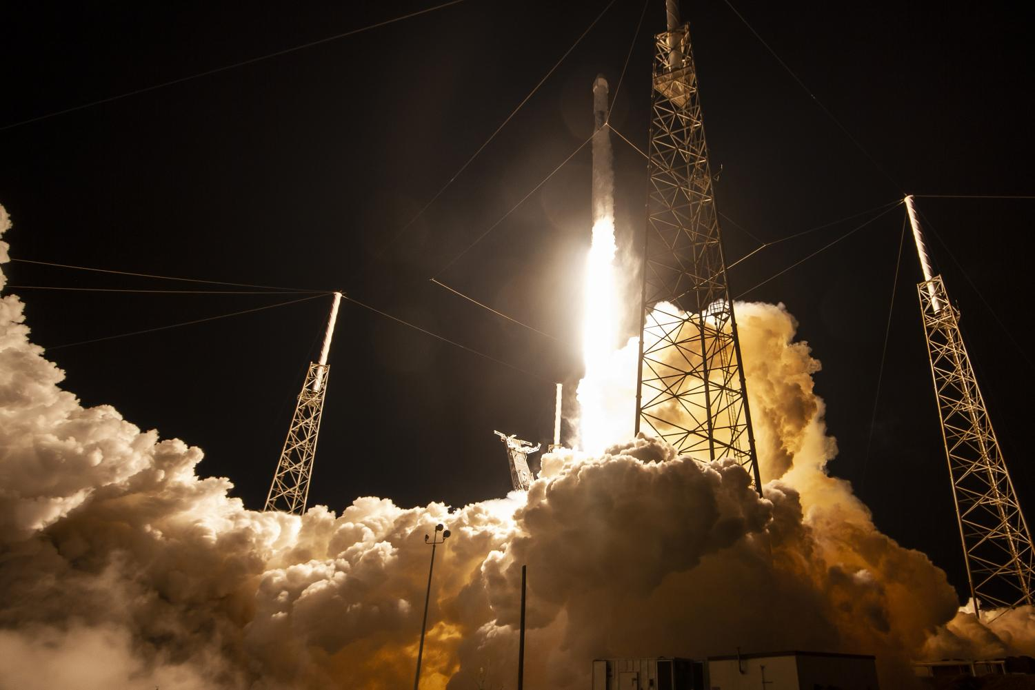 The launch on May 4 in which SpaceX sent the Dragon spacecraft to deliver important supplies to the International Space Station on the Falcon 9 rocket.