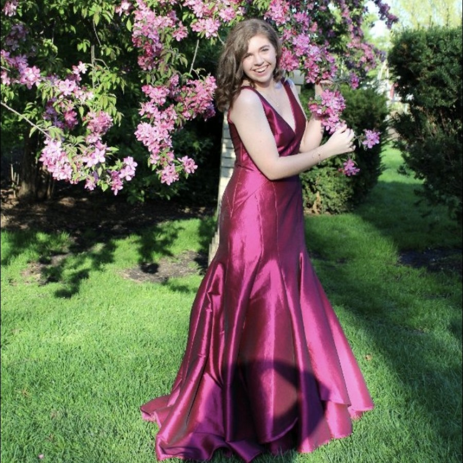 Senior Kaitlyn Ryan striking a pose on prom day