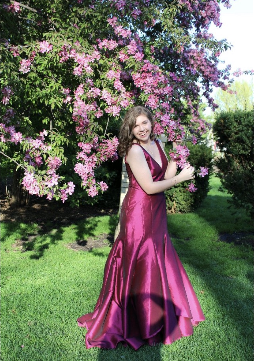 Senior Kaitlyn Ryan striking a pose on prom day