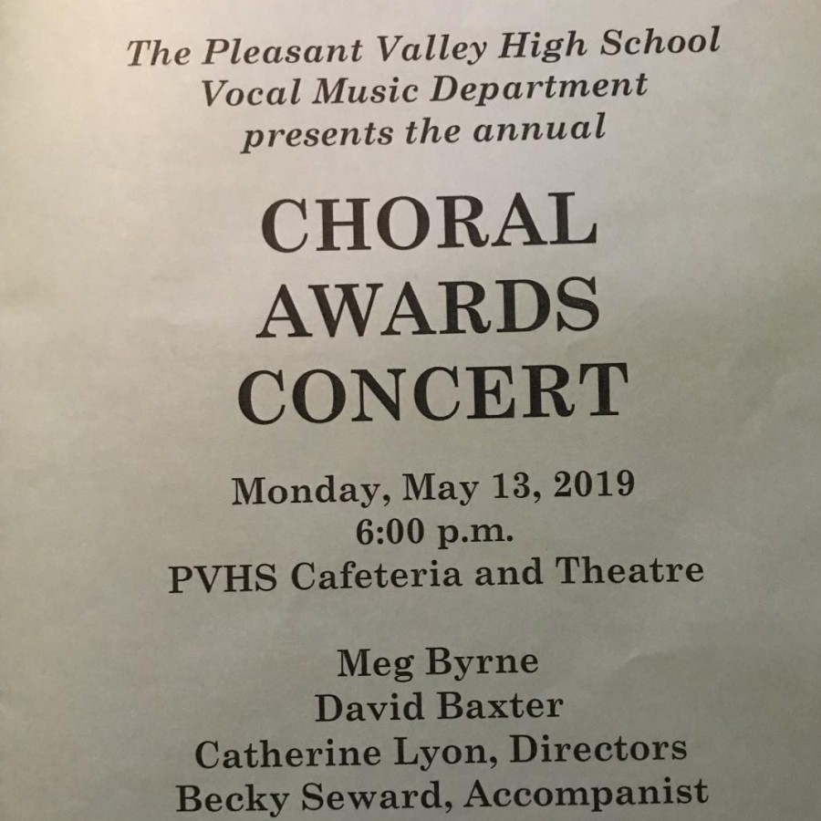 Program+for+the+2019+Choral+Awards+Concert+on+May+13.