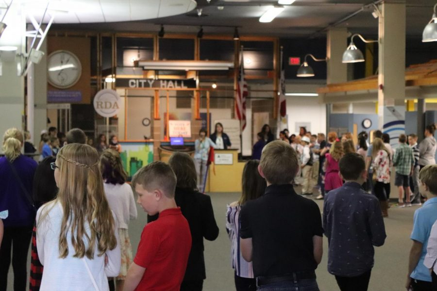 Kids who attend Biztown are given direction as to how the businesses work from JA staff.  Then they all retreat into their businesses and begin the work of opening accounts and opening the business for customers.