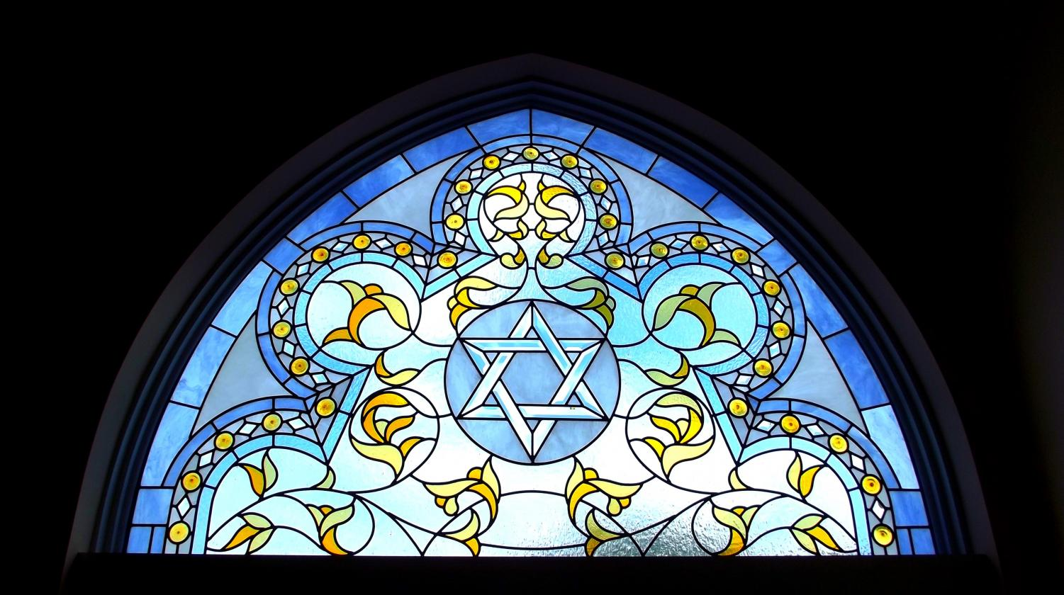 The Star of David within a synagogue.