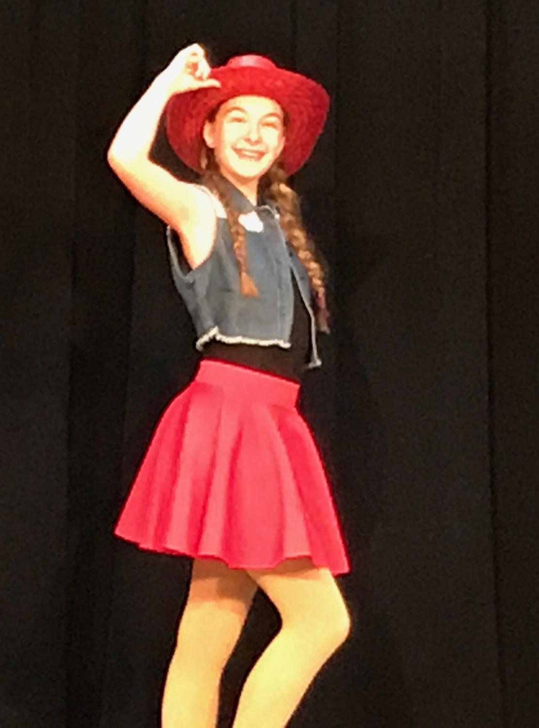 """Corrine Johnson as a cowgirl in the Family Museum Dance Company's mini production of """"Toy Story"""""""