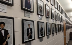 A wall recognizes the students who have made All-State